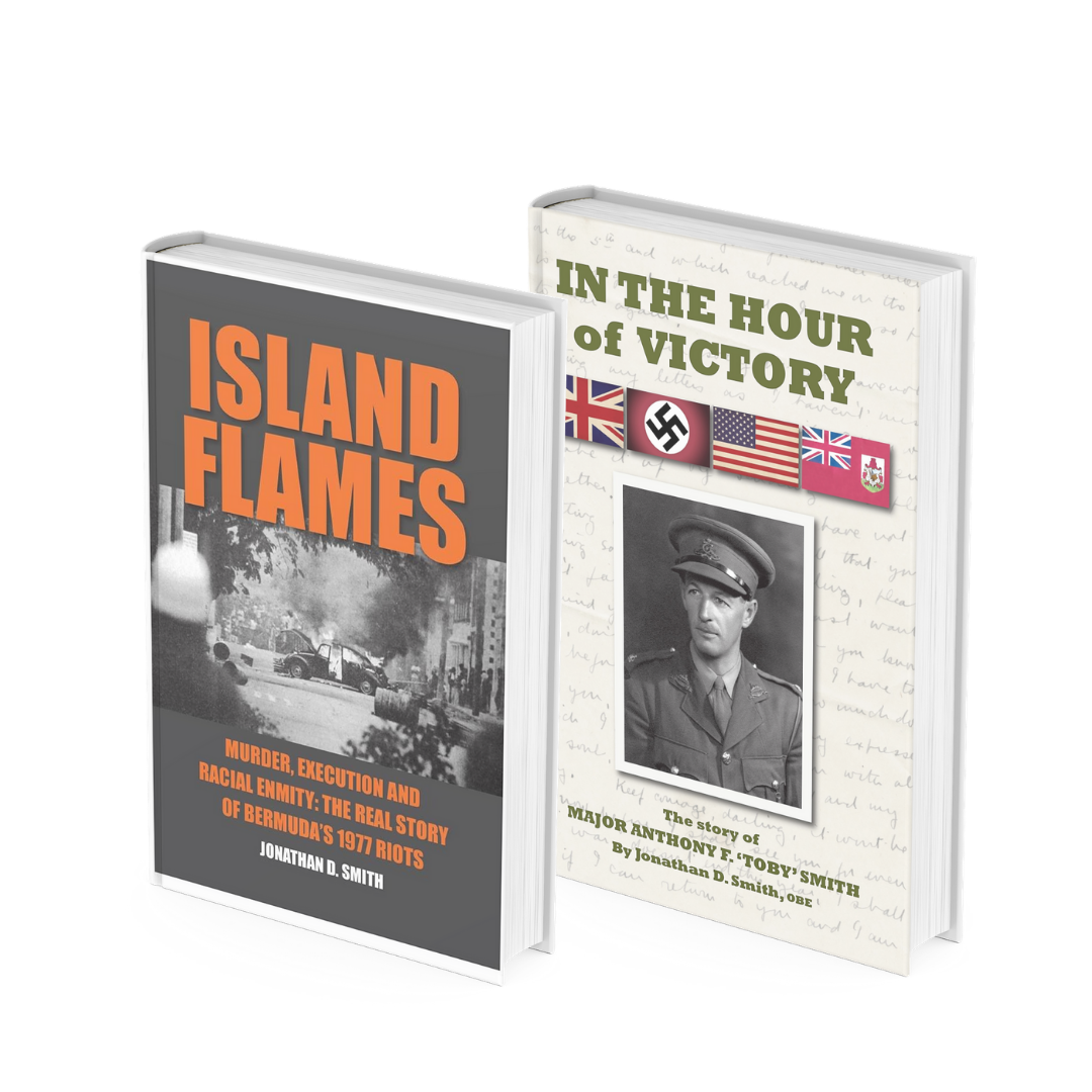 Books by Author Jonathan D. Smith - ISLAND FLAMES and IN THE HOUR OF VICTORY